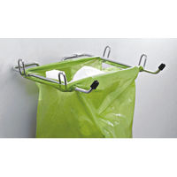 Modular Kitchen Luma Bin Bag Holder, home care, 8.5 inches, stainless steel