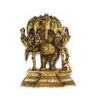 Brass Statue Ganesha 5 Face Standing, brass