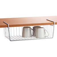 Modular Kitchen Under Shelf Basket, home care, 2 x 12 x 7 inches, stainless steel