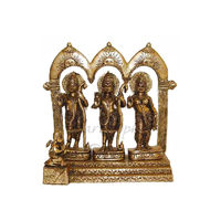 Lord Ramji Parivar With Throne Brass Statue, brass