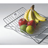 Modular Kitchen Luma Fruit Basket, home care, stainless steel