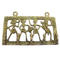 SmartShophar Brass Metal Craft Made Dhokra Wall Hook 11 Cm. Antique Finish, 11 cm, antique, brass