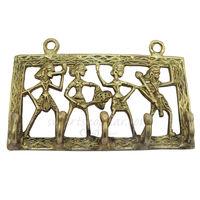 SmartShophar Brass Metal Craft Made Dhokra Wall Hook 11 Cm. Antique Finish, 11 cm, antique, brass