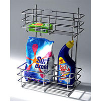Modular Kitchen Luma Detergent Pullout, home care, 6 x 18 x 19 inches, stainless steel