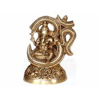 Ganesha With In Om, brass