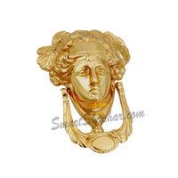 Door Knocker - Lady Dyna, 5 inches, nickel silver, brass