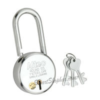 Padlock Long Shackle Lock Action 65mm, steel, heavy