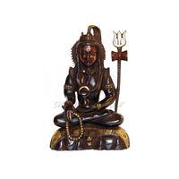 Lord Shiva Brass Black Antique Statue, brass