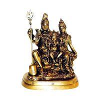 Lord Shiva Parivar Brass Statue Antique, brass