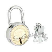 Padlock Double Lock Action 57mm, steel, heavy
