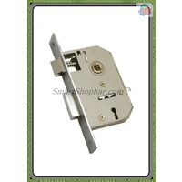 Lever Mortise Lock Single Action, nickel silver and colour coated, steel and brass, 5 inches
