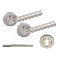 Mortise Rose Handle - Cargo, 2 inches, nickel silver, stainless steel