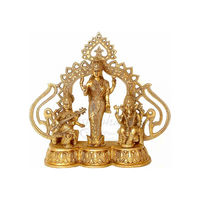 Godness Laxmi With Ganesh Statue, brass