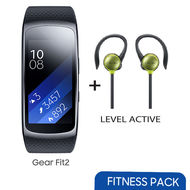 Samsung Gear Fit 2 Large+ Level Active Bundle Offer,  Gray