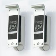 Flexson Wall Mount for SonosPlay: 1( one pair),  Black