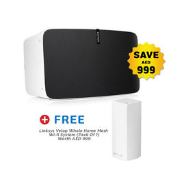 Sonos Gen 2 PLAY5+ Free Linksys Velop Wifi Router Pack Of 1 Worth Aed 999,  White