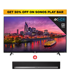 TCL 65 INCH ULTRA HD SMART LED - LED65P2000USGM+ SONOS PLAYBAR Soundbar- PBAR1UK1B,  Black
