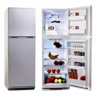MIDEA 330ltr Top Mount Refrigerator HD333FWENS,  Stainless Steel