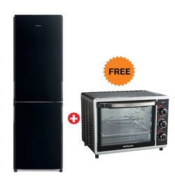 Hitachi French Bottom Freezer Refrigerator RBG410 ( Capacity: 410L),  Black
