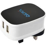 NOVA AC-500 Dual USB Home Charger (2.1AMP) + MOIGUS CC-31 Dual USB Car Charger (2.1AMP) Bundle, AC500 CC31