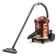 Hitachi Drum vaccum cleaner, CV940Y24,  Wine Red, 1600 W