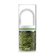 Evac Glass food storage with vaccum sealing lid- 1/2 lb,  White