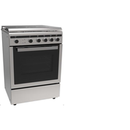 MIDEA 60x60CM FULL SAFETY COOKER WITH 4 GAS BURNERS,  Stainless Steel