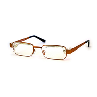 Eyejusters - Adjustable reading glasses,  Brown