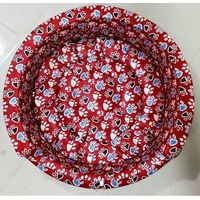 FOAM BED ROUND MEDIUM-FLORAL