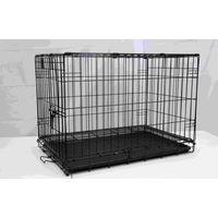 DOG CAGE BLACK ELCETRO COATED 76X48X53CM