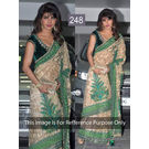 Kmozi Priyanka Beauty Designer Saree, cream