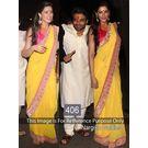 Kmozi Nargis Goldies Designer Saree, yellow