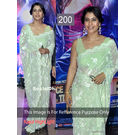 Kmozi Kajal Highlight Bollywood Replica Saree, light green
