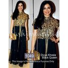Kmozi Divya Khosla Queen Floor Touch Anarkali, black