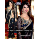 Kmozi Bollywood Replica Priyanka berry Saree, black