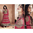 Kmozi Color Designer Anarkali Suit, pink