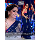 Kmozi Replica Nevy Madhuri Beauty Saree, nevy blue