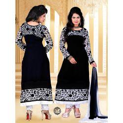 Kmozi Fancy Designer Dress Material, blue