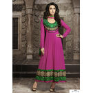 Kmozi Karishma Kapoor Long Embroide Anarkali Suit, pink