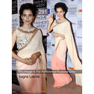 Kmozi Bollywood Replika Kangna Lakme Saree, peach
