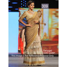 Kmozi Perizaad Gold Queen Replica Saree, gold
