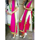 Kmozi Shop Embroide Pure Cotton Salwar Suit, pink and white