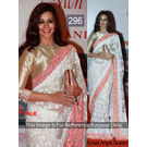 Kmozi Sonali Angel Queen Replica Saree, white