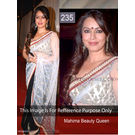 Kmozi Replika Mahima Beauty Queen Saree, black and white