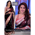 Kmozi Replica Madhuri Kalishta Designer Saree, black