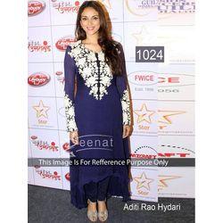 Kmozi Aditi Rao Hydari Latest Anarkali Suit, blue