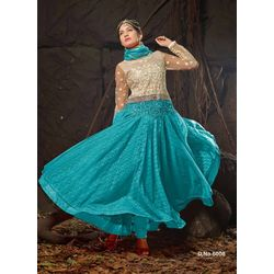 Kmozi Latest Sky Designer Anarkali Suits, blue