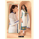 Kmozi Latest Embroidery Designer Salwar Kameez, white