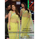 Kmozi Madhuri Latest Designer Saree, yellow