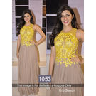 Kmozi Kirti Sanon Gown Type Designer Anarkali, light chocolate